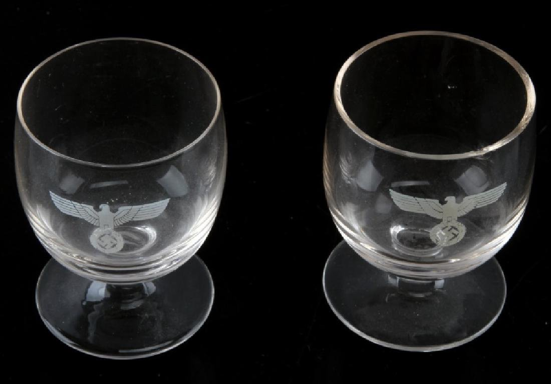 WWII GERMAN  SS EAGLE EMBOSSED COGNAC SNIFTER