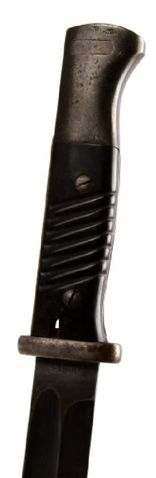 WWII THIRD REICH GERMAN K98 BAYONET WITH SHEATH