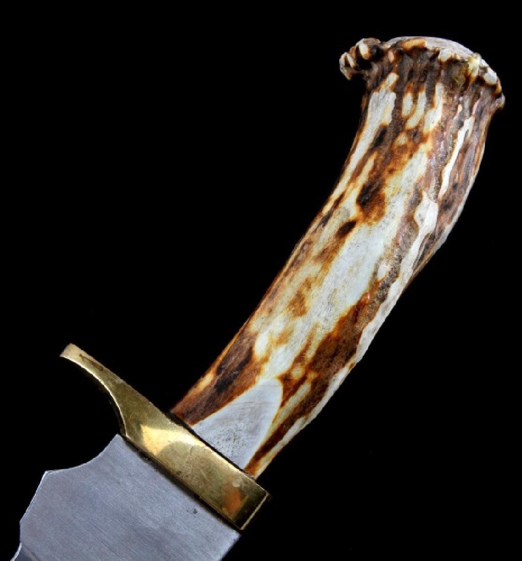 STAG HANDLE CUSTOM MADE BOWIE KNIFE