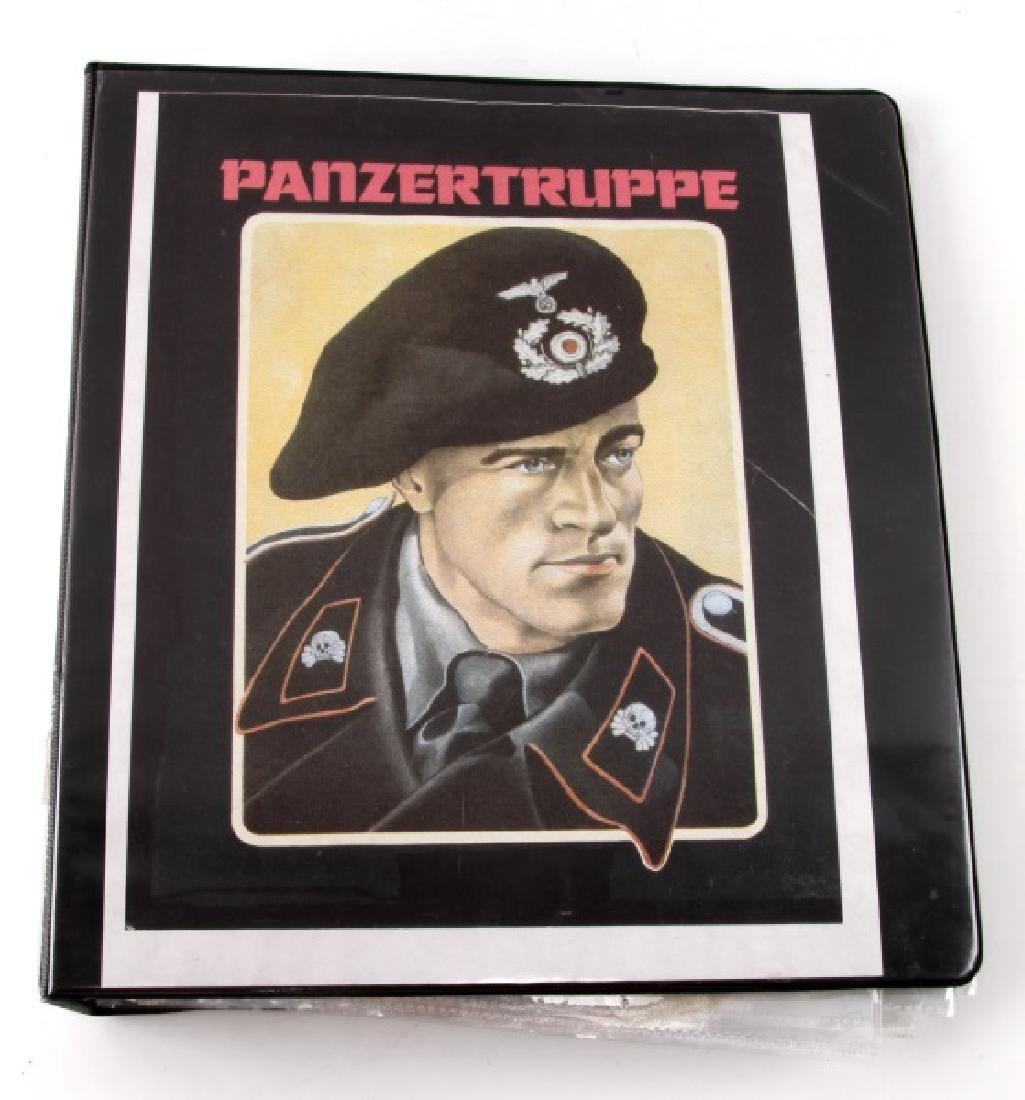 GERMAN WWII BINDER OF PANZER LETTERS & AUTOGRAPHS