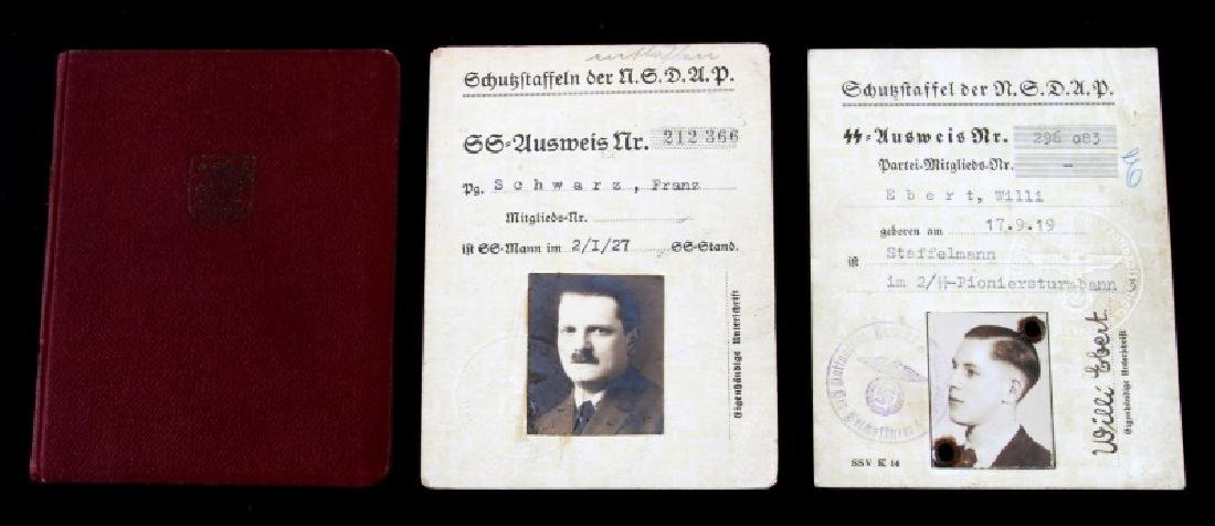 WWII GERMAN SS IDENTIFICATION & DIPLOMAT CARDS