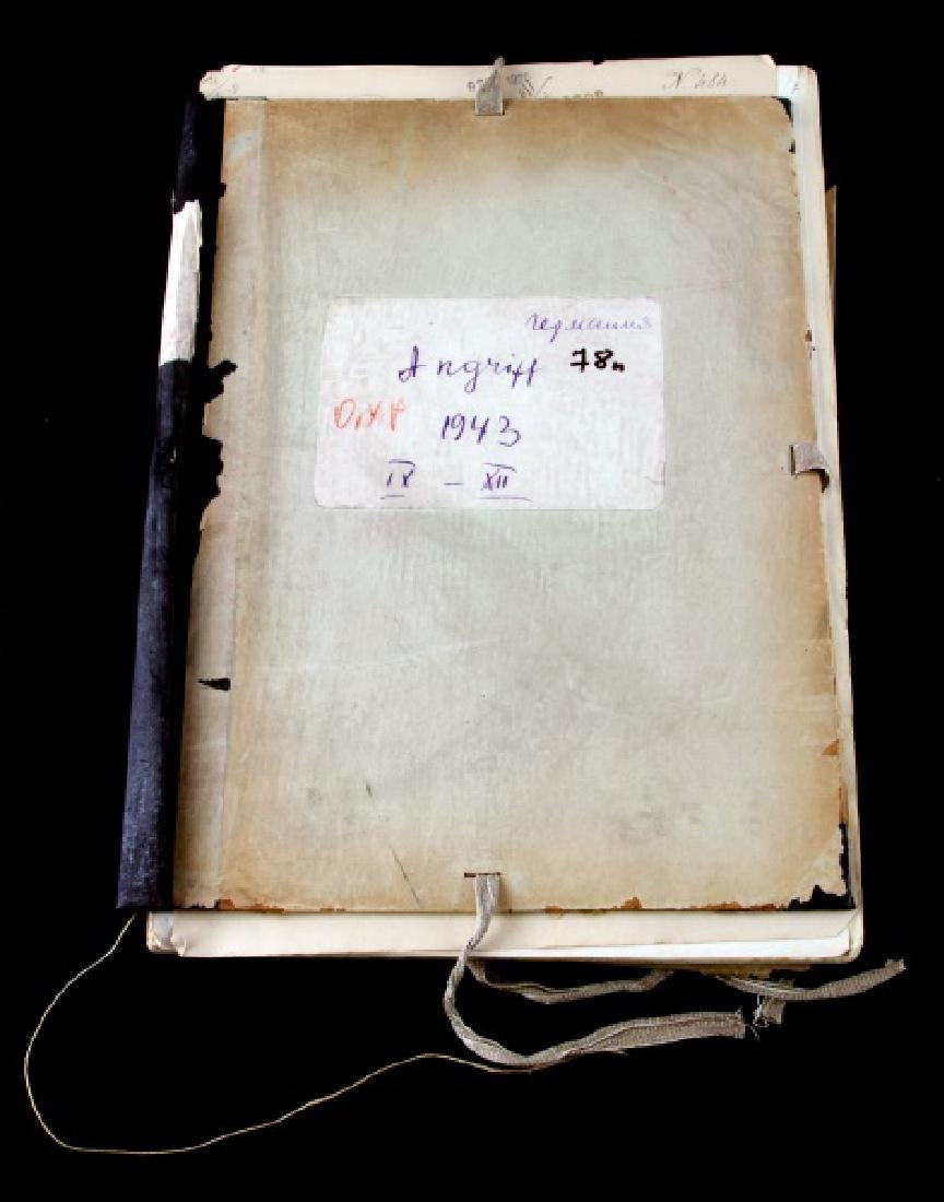 MUSSOLINI AND KING SIGNED ITALIAN ARMY ROSTER BOOK