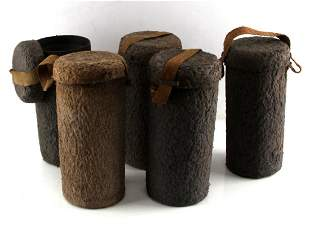 LOT OF 4 WWII GERMAN GAS MASK 1 CONTAINER