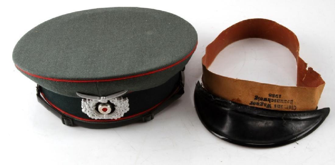 WWII GERMAN THIRD REICH ARMY OFFICERS VISOR CAP