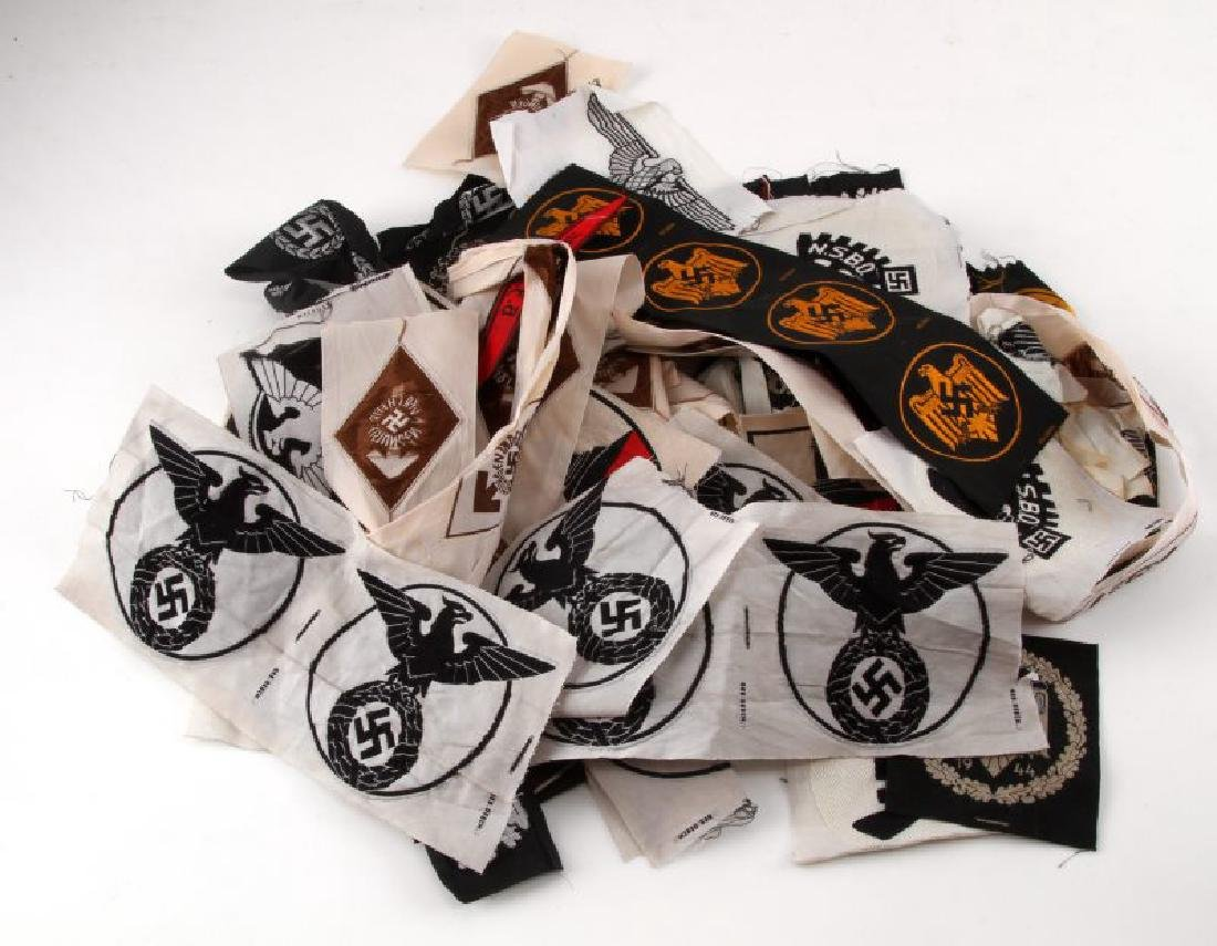 LARGE 54 PIECE GERMAN WWII UNISSUED PATCH LOT