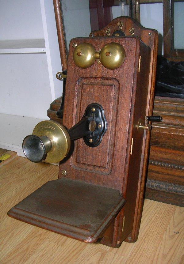 VINTAGE 1901 KELLOGG WALL CRANK PHONE TELEPHONE   - 2