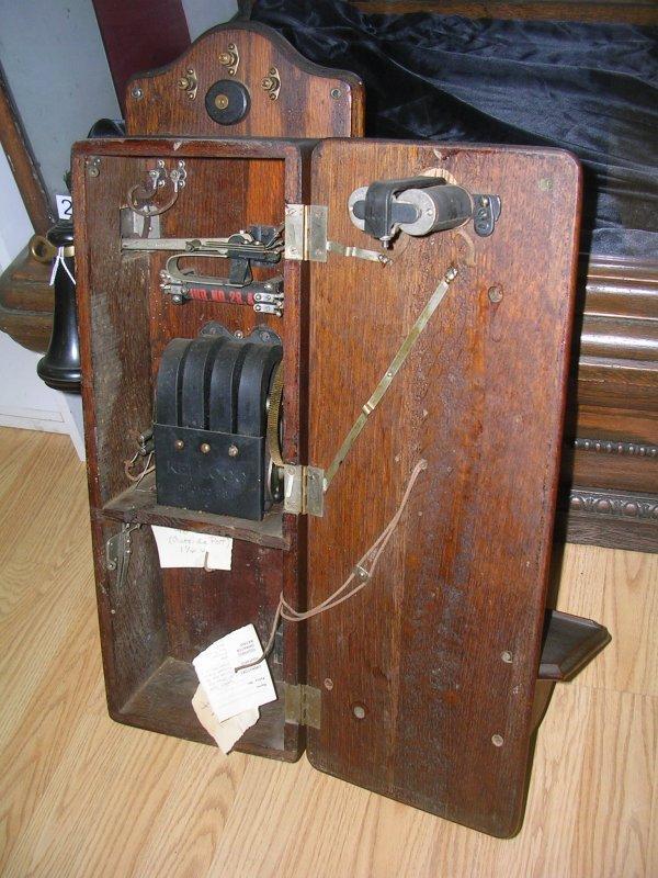 VINTAGE 1901 KELLOGG WALL CRANK PHONE TELEPHONE   - 3