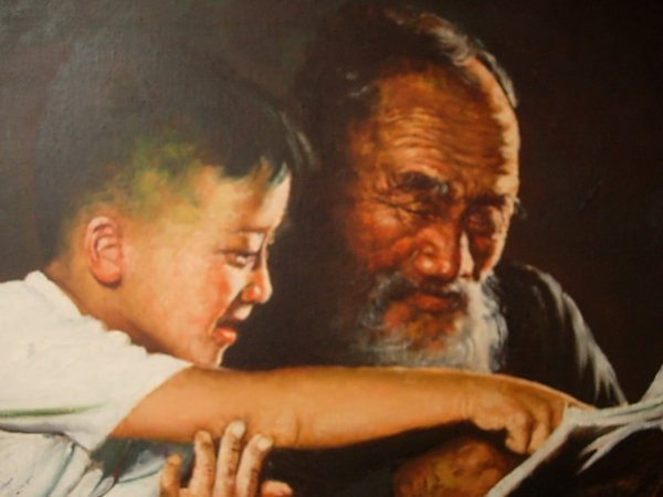 WISDOM AND YOUTH PAINTING / H. CHEANG ARTIST     - 3