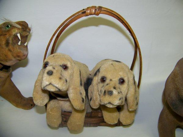 HUGE LOT OF ANTIQUE NODDING DOG BOBBLE HEAD   - 2