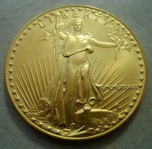 1987 GOLD AMERICAN EAGLE 1 OZ $50 BULLION COIN UNC