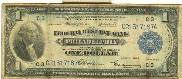 NAT CURRENCY FR715 LARGE SIZE FEDERAL RESERVE NOTE