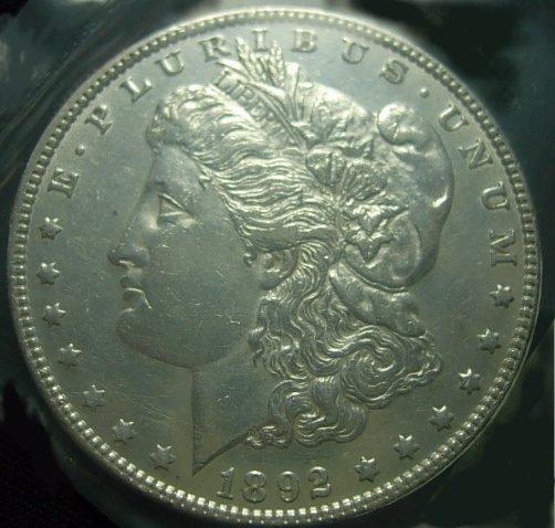 1892 MORGAN SILVER DOLLAR AU BETTER DATE