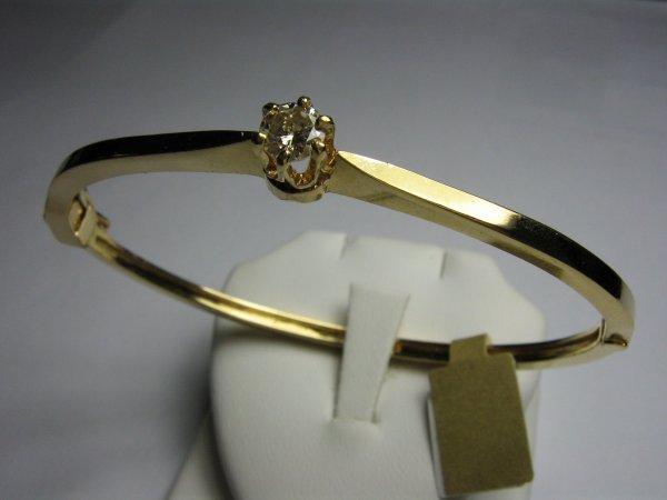 14K GOLD LADIES BANGLE BRACELET WITH .40CT DIAMOND