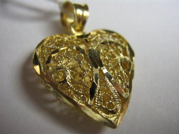 14K GOLD LADIES HEART PENDANT