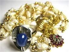 BETTER SCRAP 14K GOLD LOT RUBIES DIAMONDS PEARLS