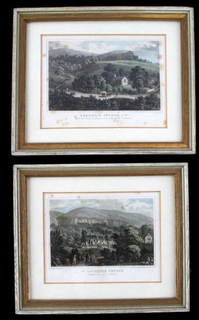 LOT OF 2 19TH CENTURY BRANNON CHURCH ENGRAVINGS