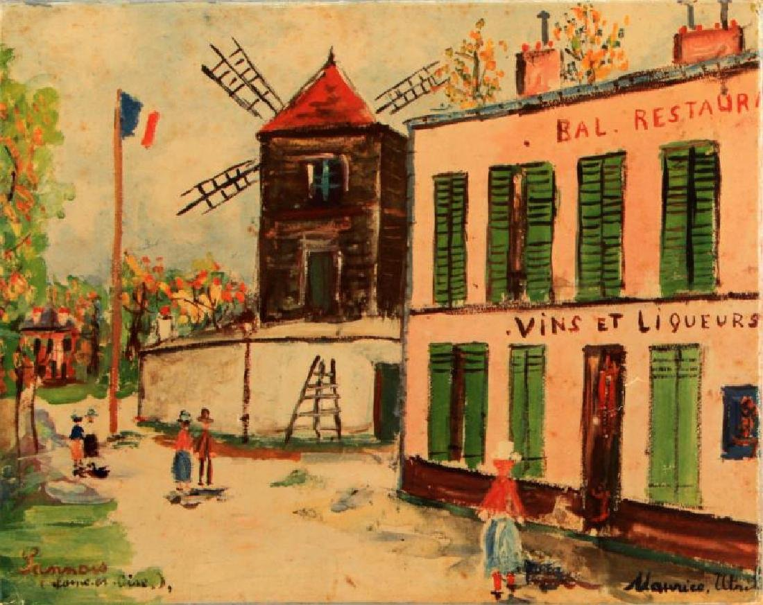MAURICE UTRILLO (FRENCH, 1883-1955) CANVAS PRINT