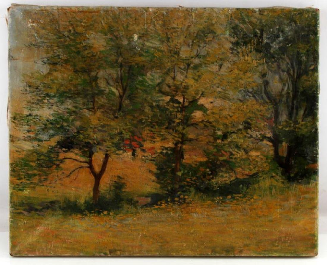 19TH CENTURY IMPRESSIONIST PASTORAL OIL PAINTING