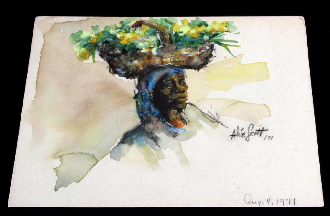 ORIGINAL SIGNED ALICE SCOTT WATERCOLOR PAINTING