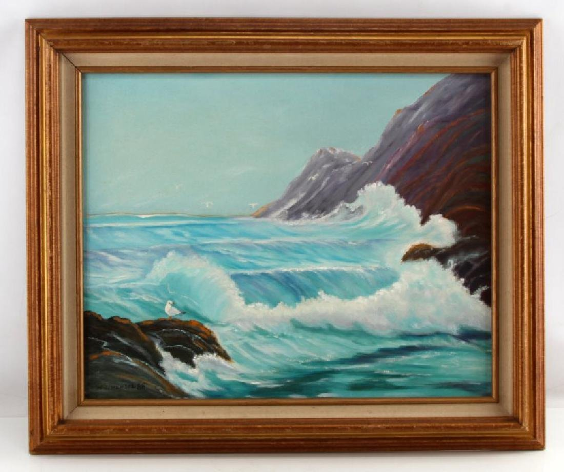 HENSEL SEASCAPE OCEANFRONT OIL  PAINTING
