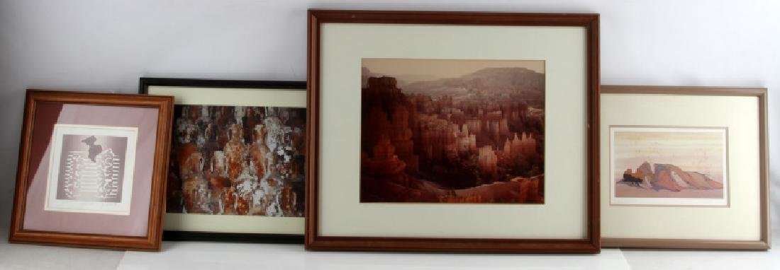 ASSORTED FRAMED PRINT AND PHOTO LOT OF 4