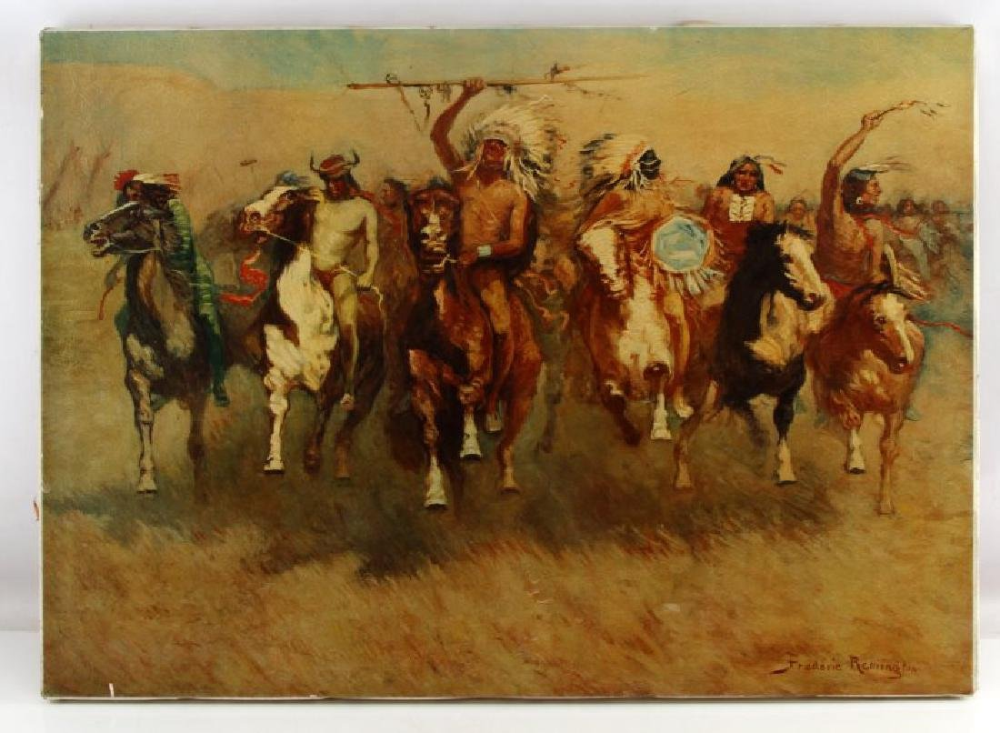 FREDERIC REMINGTON GICLEE OF INDIAN VICTORY DANCE