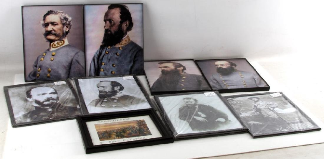 10 FRAMED CIVIL WAR SOLDIER REPRO PRINT LOT