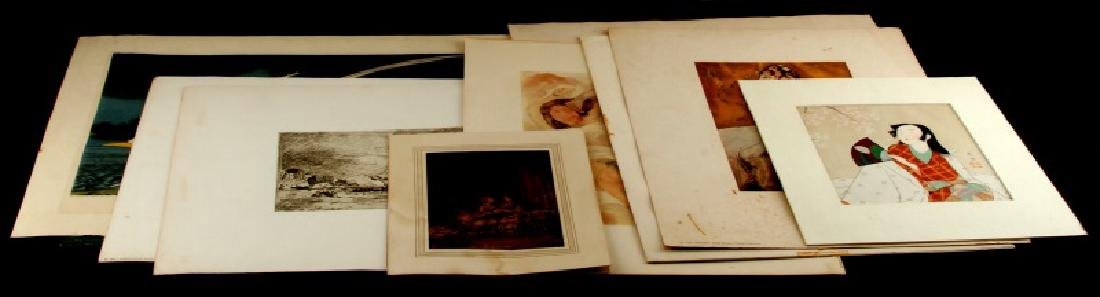 12 ASSORTED VINTAGE PRINTS AND ETCHINGS LOT