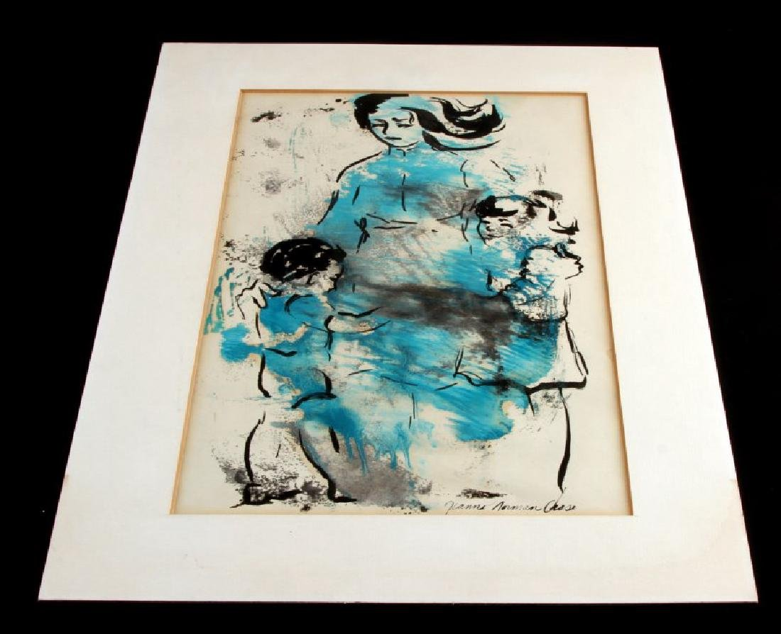 JEANNE NORMAN CHASE WOODBLOCK WATERCOLOR
