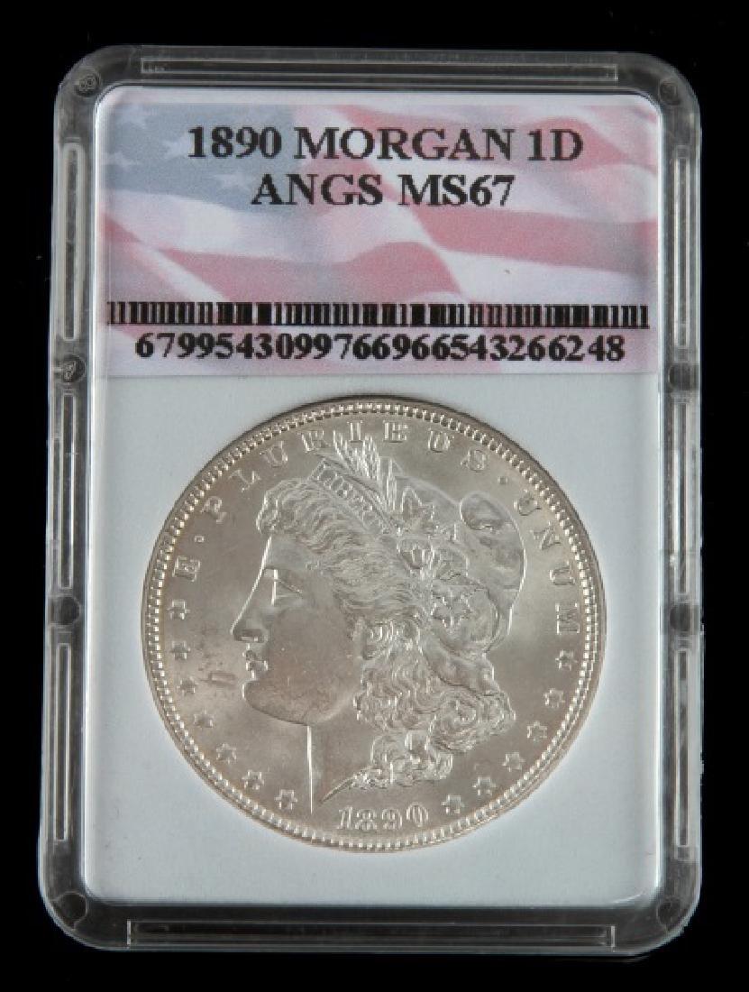 1890 MORGAN SILVER DOLLAR UNCIR MINT STATE