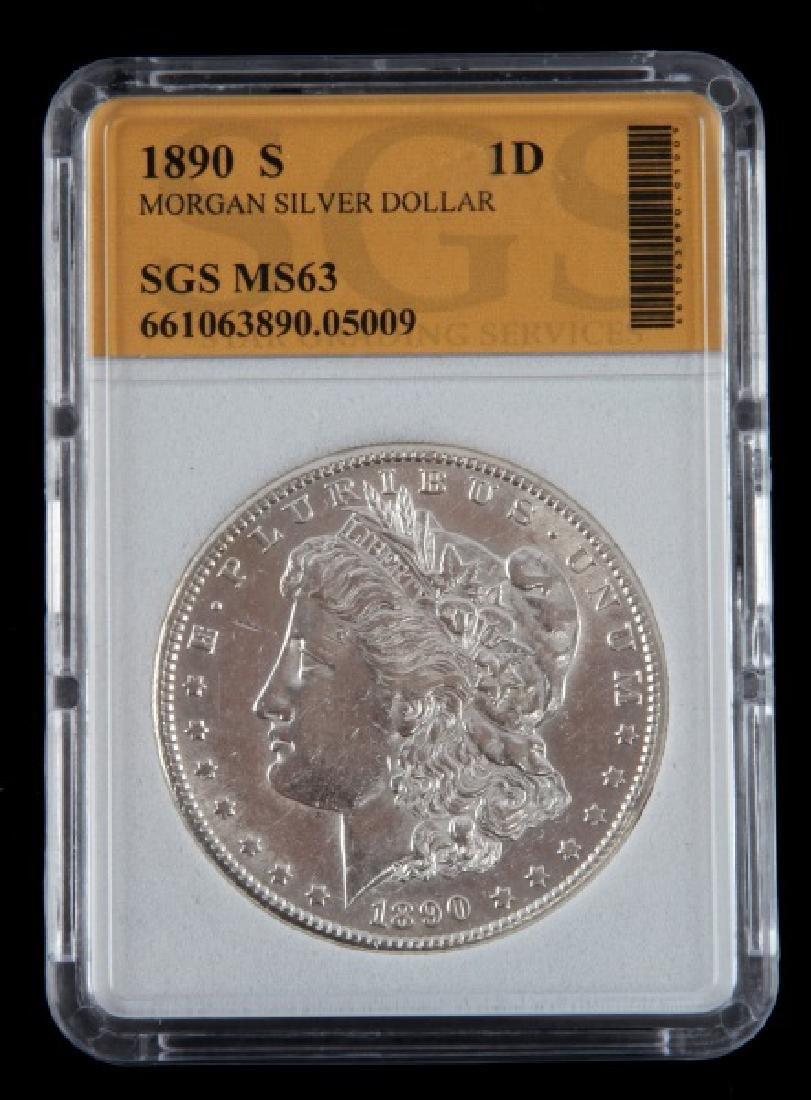 1890 S MORGAN SILVER DOLLAR UNCIRC MINT STATE