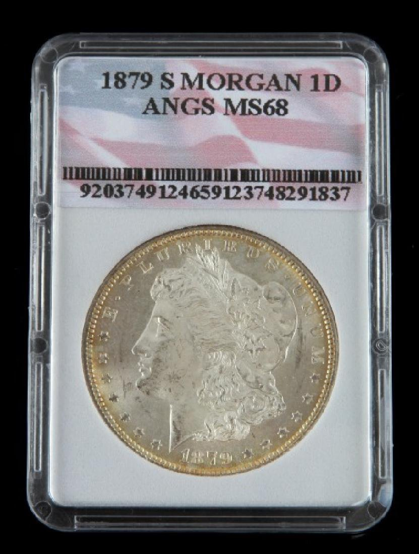 1879 S UNC MINT STATE MORGAN SILVER DOLLAR COIN
