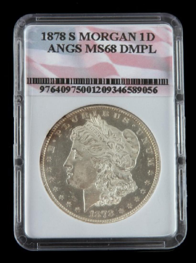 1878 S UNC MINT STATE MORGAN SILVER DOLLAR COIN