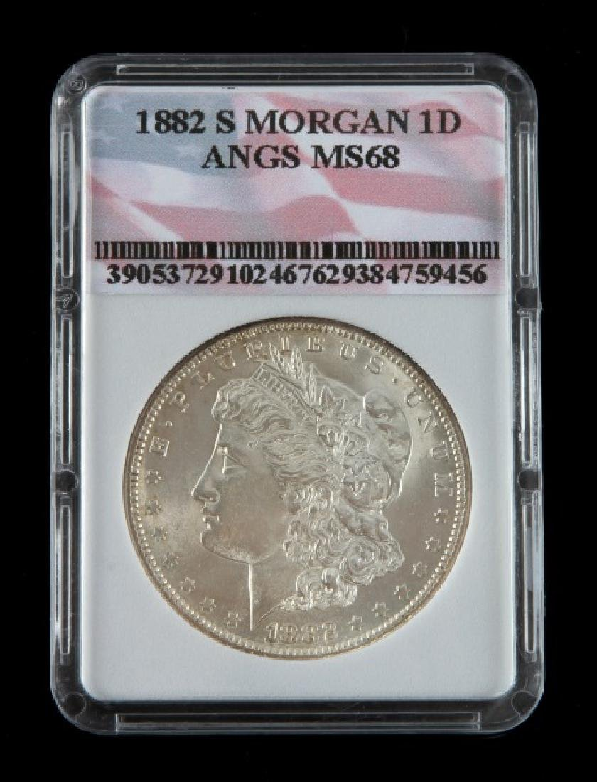 1882 S MORGAN SILVER DOLLAR COIN UNC MINT STATE