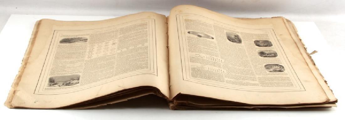 1868 EARLY JOHNSON & WARD WORLD MAP ATLAS WORN