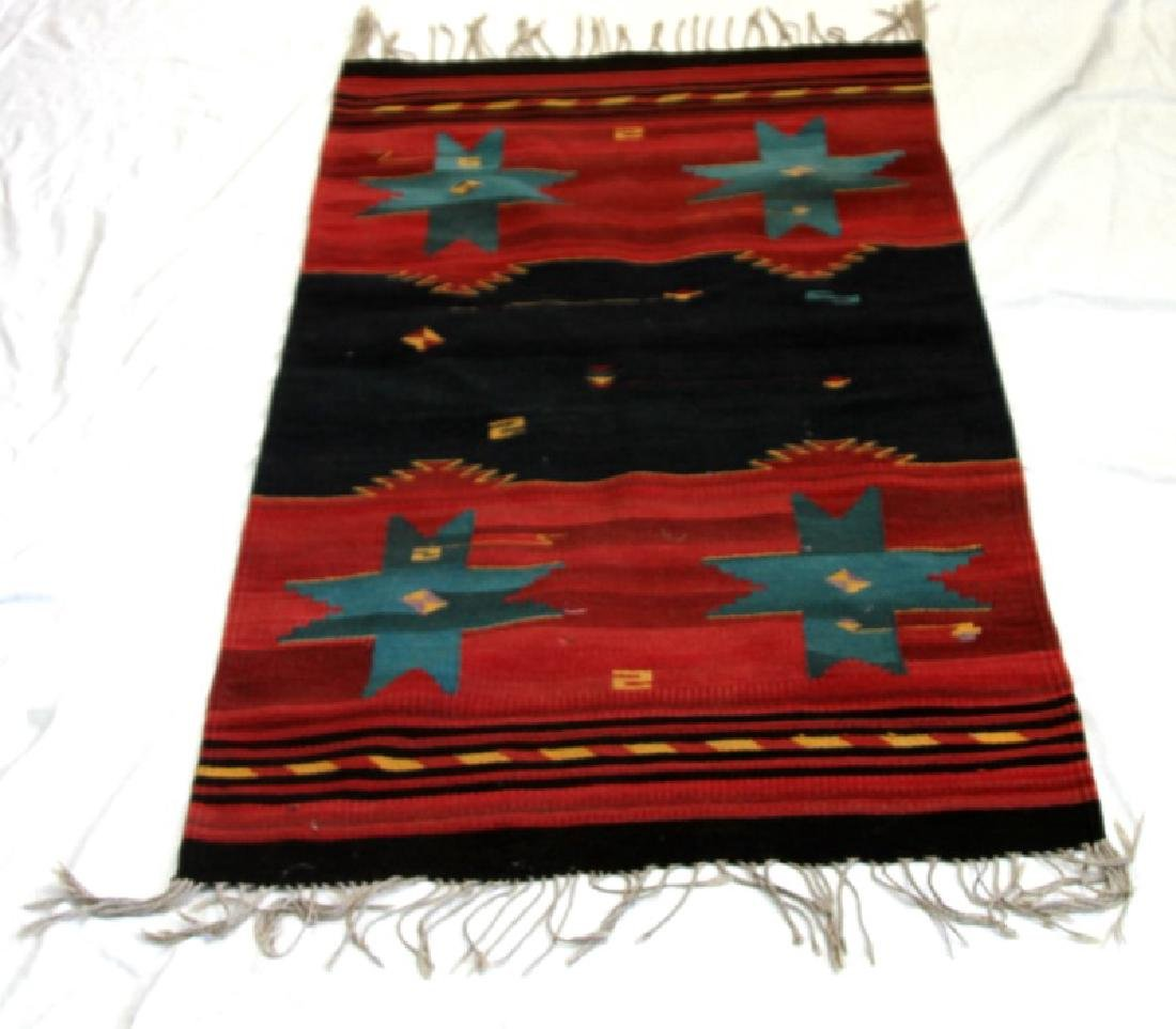 VINTAGE NAVAJO INDIAN HAND WOVEN SADDLE BLANKET