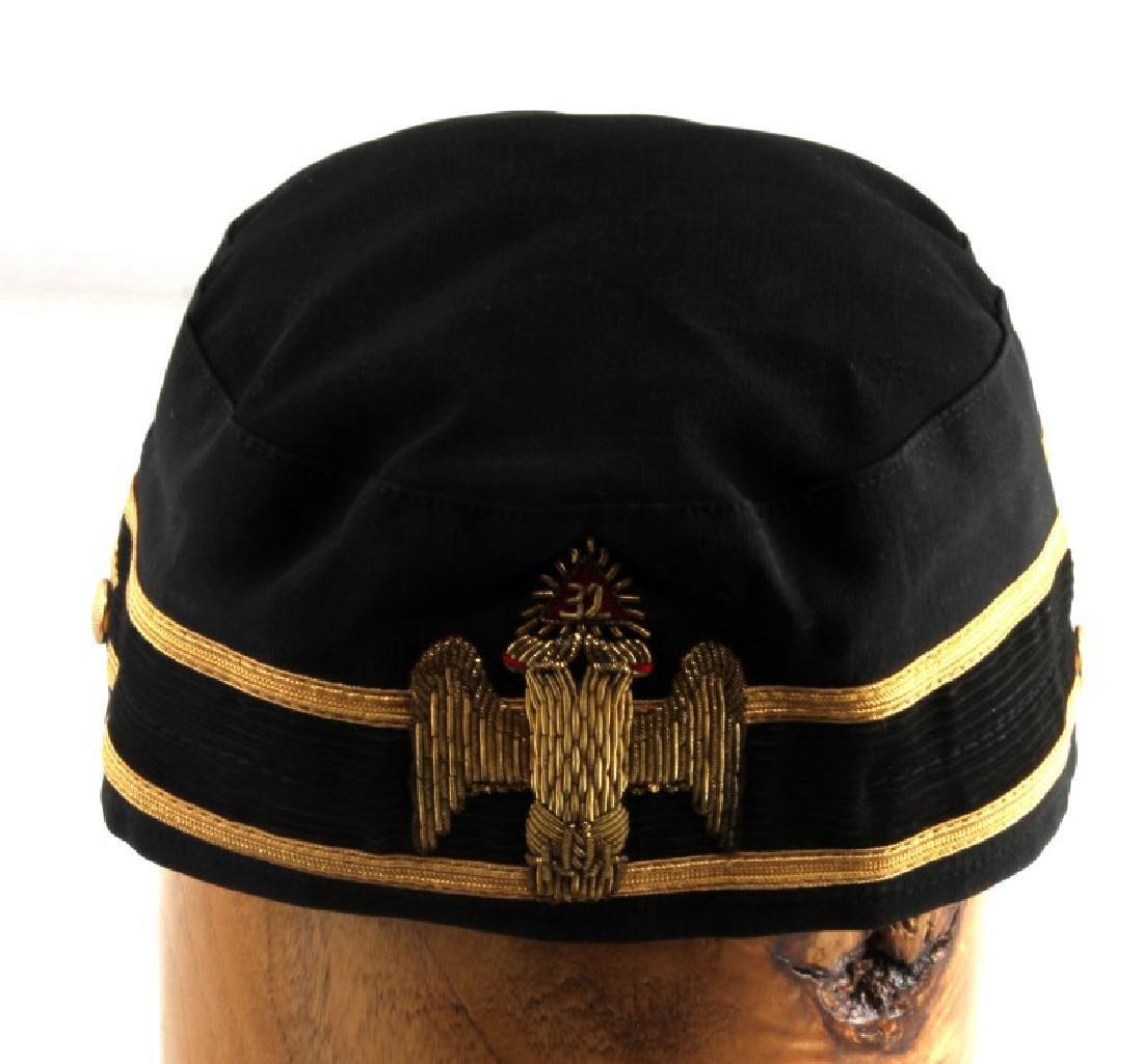 ANTIQUE MASONIC DOUBLE EAGLE 32 DEGREE CAP