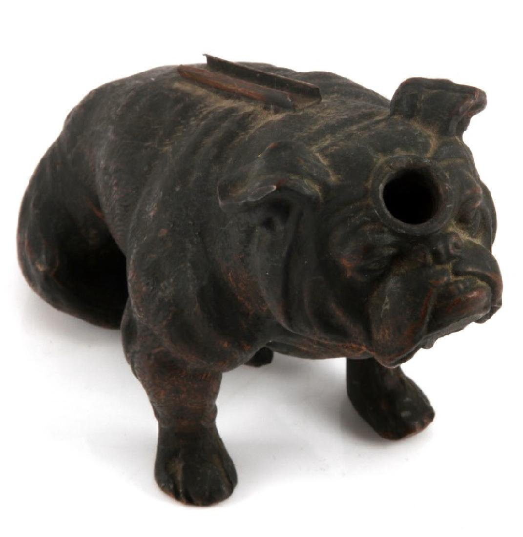 ANTIQUE COPPER RONSON BULLDOG STRIKER LIGHTER