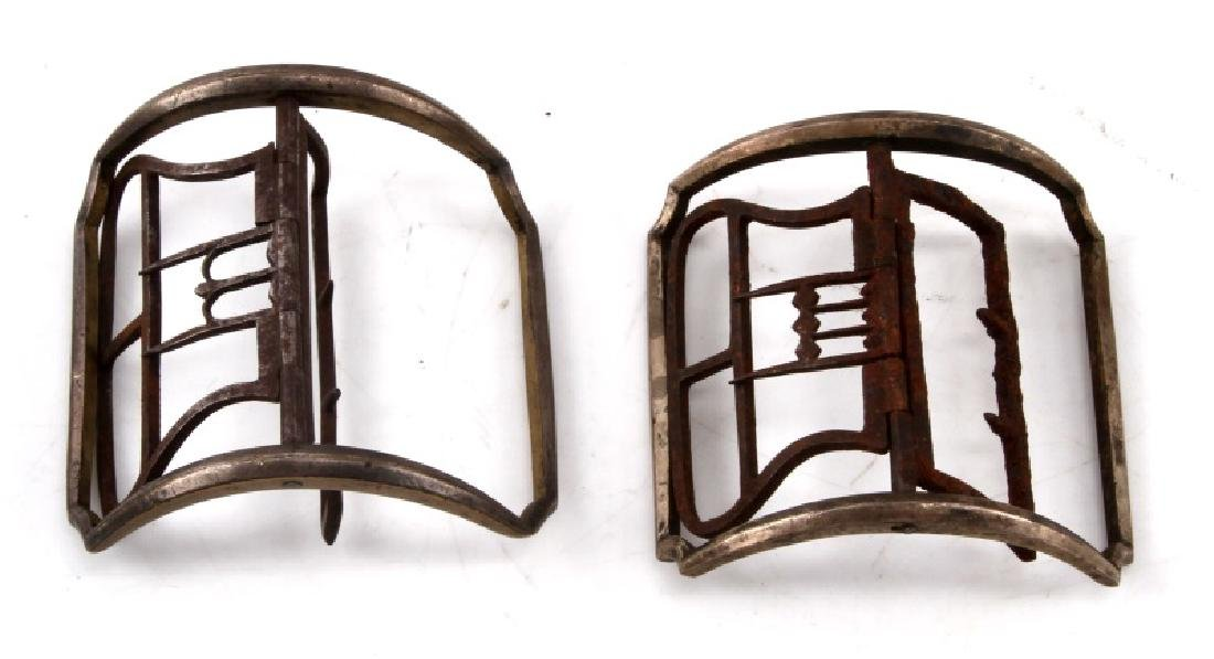 PAIR OF 18TH CENTURY BRASS SHOE BUCKLES