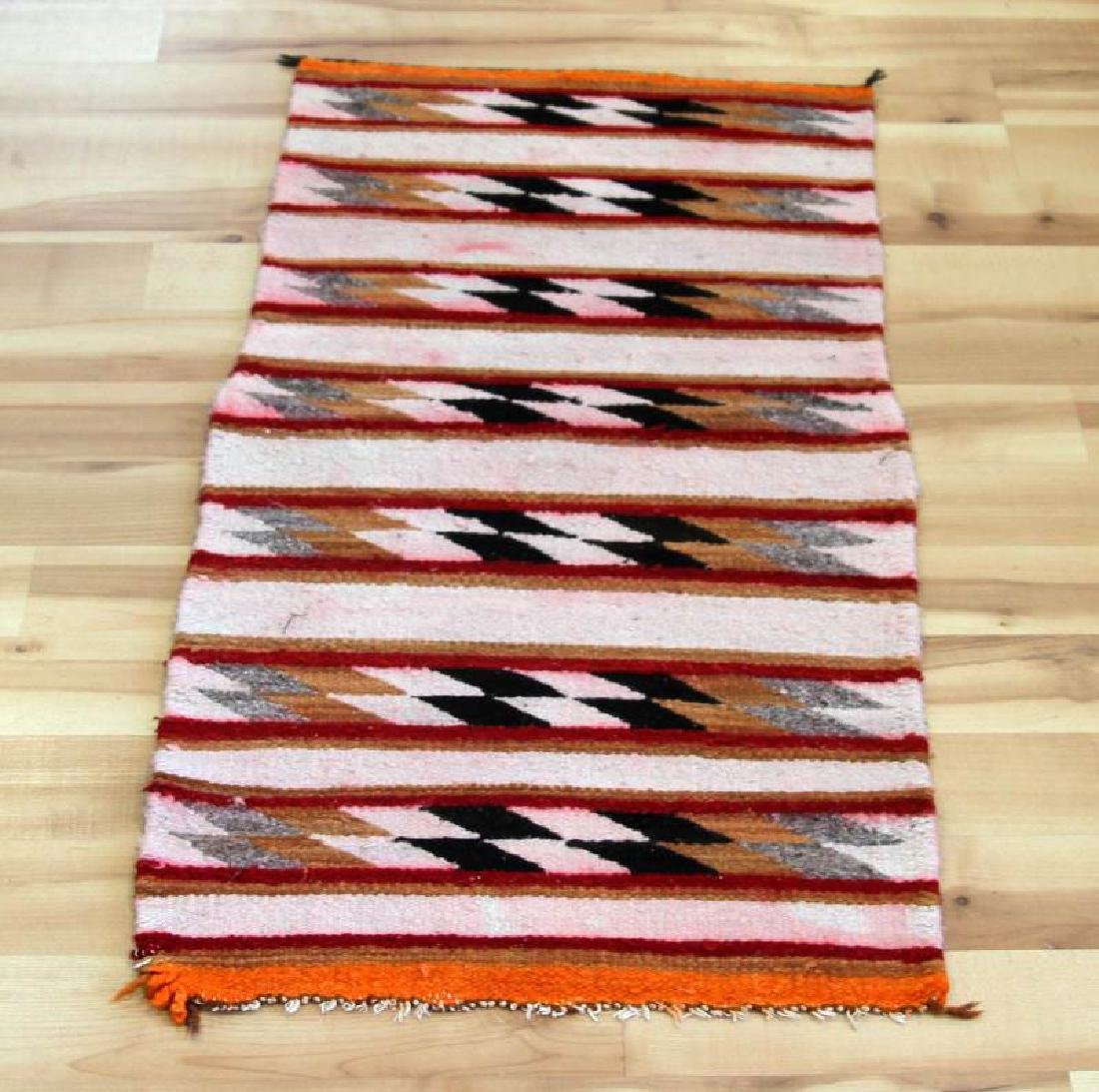 VINTAGE NATIVE AMERICAN NAVAJO INDIAN WOOL RUG
