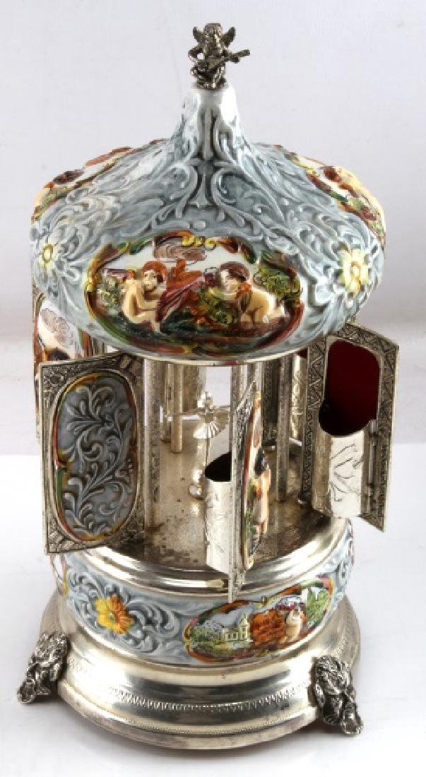 ANTIQUE REUGE MUSIC BOX AND CIGARETTE CAROUSEL
