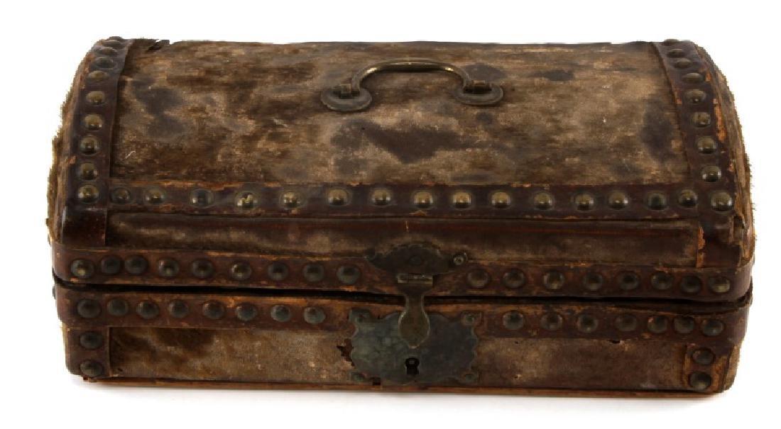 19TH CENTURY TREASURE CHEST STORAGE BOX
