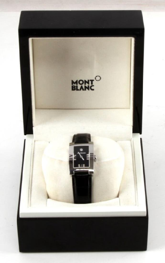 MONT BLANC 7183 LADIES LEATHER WRIST WATCH