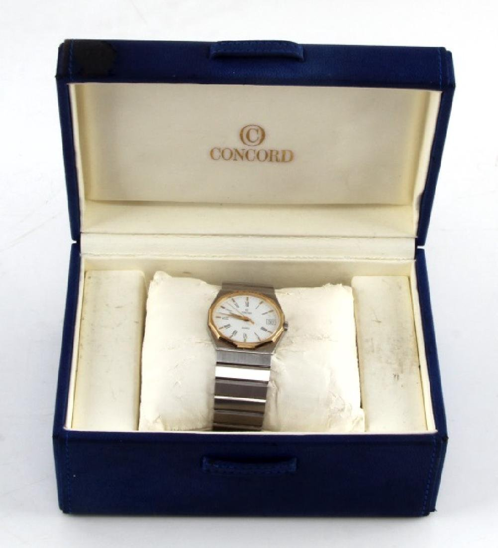 CONCORD MARINER MENS STAINLESS & 18KT GOLD WATCH