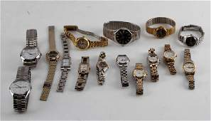 LOT OF 15 MENS AND WOMENS WRIST WATCHES