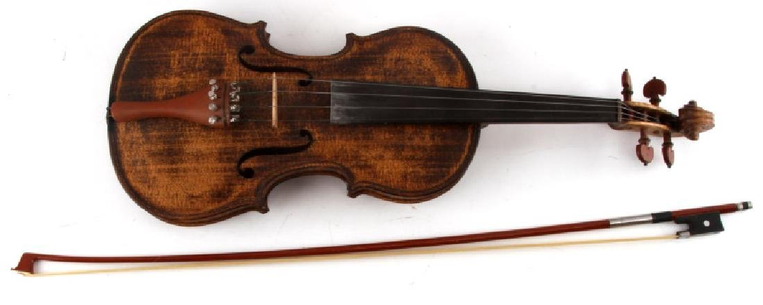 VINTAGE WALNUT VIOLIN FULLY FUNCTIONAL W BOW