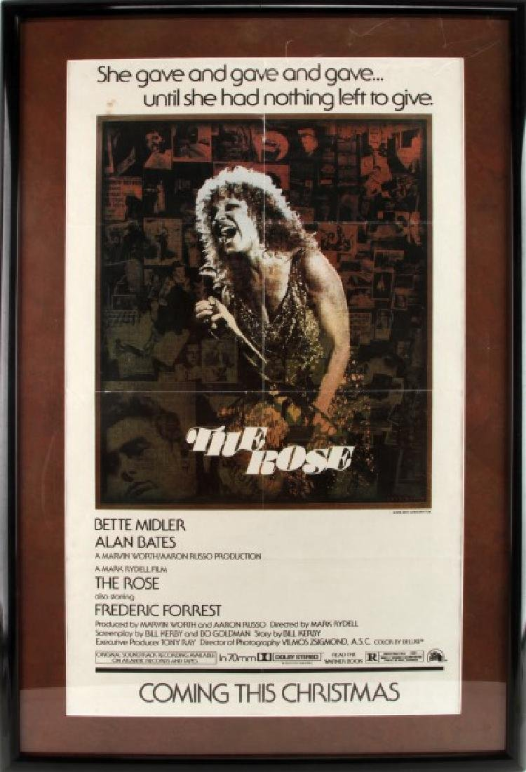 THE ROSE ADVANCED ONE SHEET QUAD POSTER B MIDLER