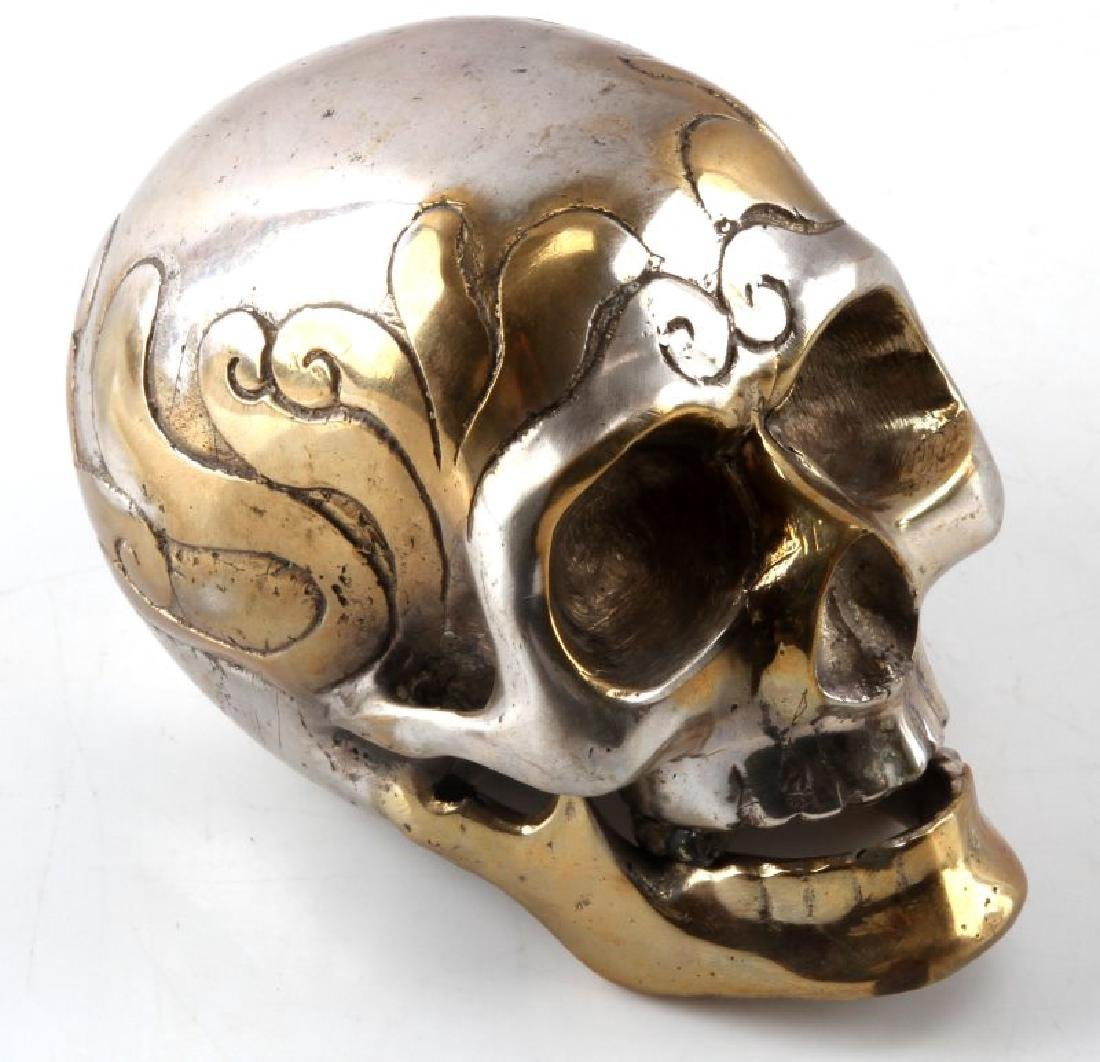 HAND CRAFTED GOTHIC METAL SKULL