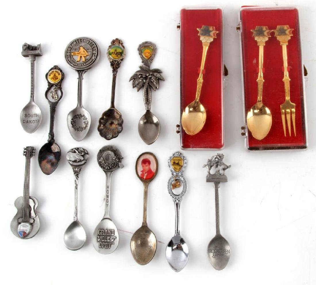 LOT OF COLLECTIBLE PEWTER SOUVENIR SPOONS