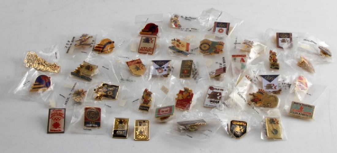 1984 SUMMER AND WINTER OLYMPICS PIN LOT OF 45